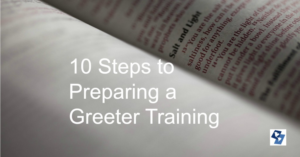 Leading a Greeter Training Meeting?  Here is a quick checklist to aid in your planning.